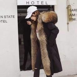 Эмэгтэй урт куртик Нэхий дотортой куртик Mens coat