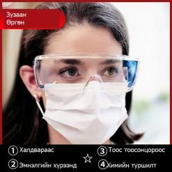 Хамгаалалтын нүдний шил Нүдний шил Safety glasses